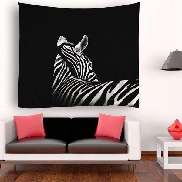 Retro Zebra Back Tapestry