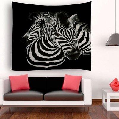 Retro Zebra Tapestry