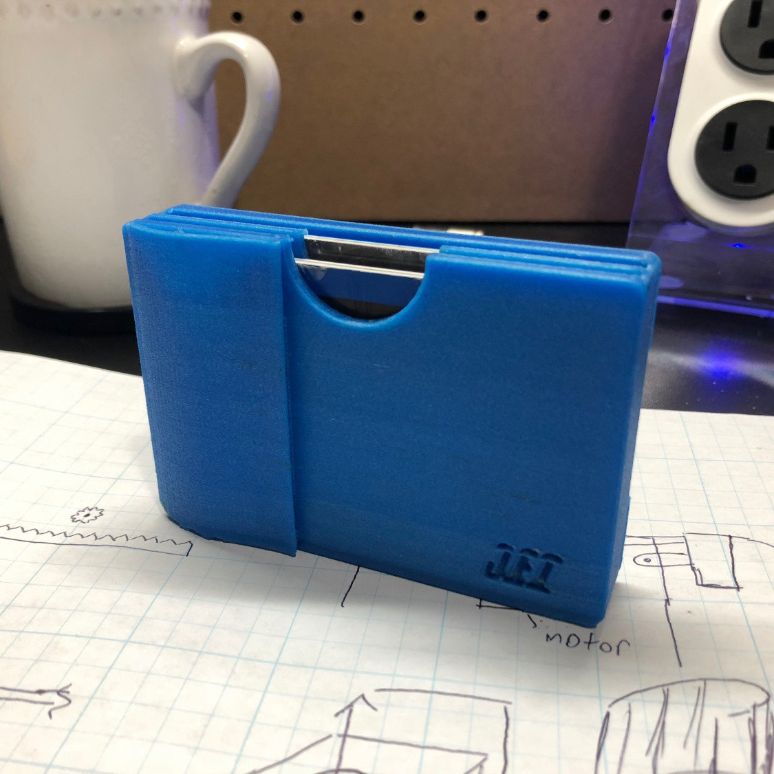 3D Printed Blue Travel Wallet