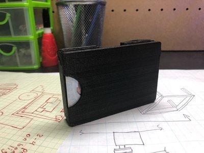 3D Printed Black Travel Wallet