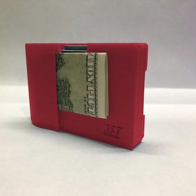 3D Printed Red Travel Wallet
