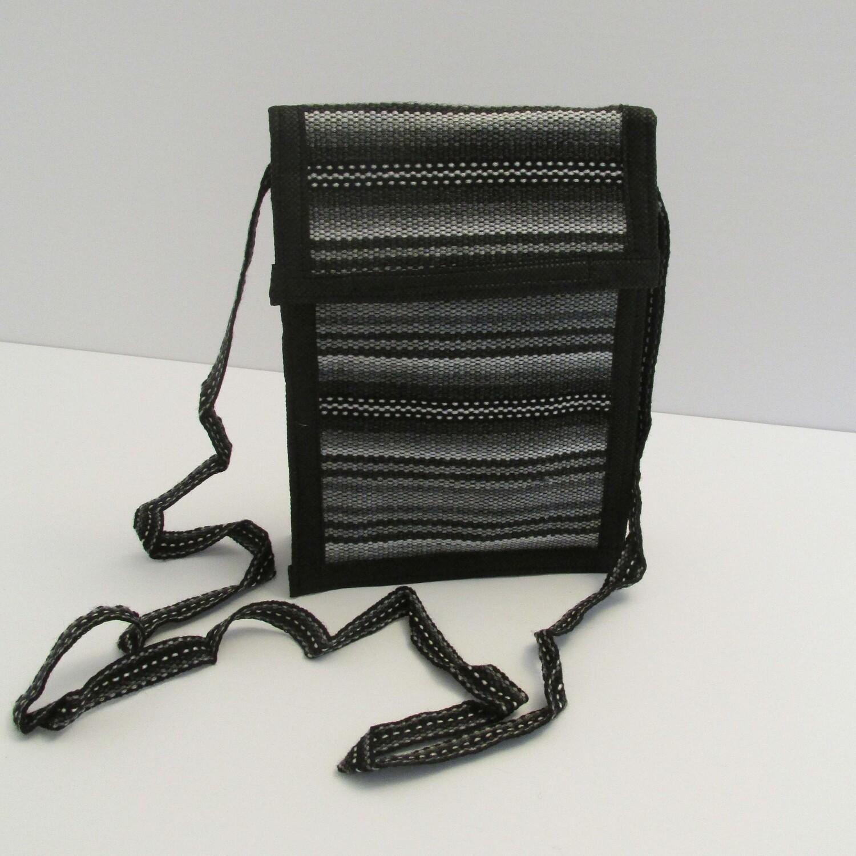 Petit sac à bandoulière noir et gris