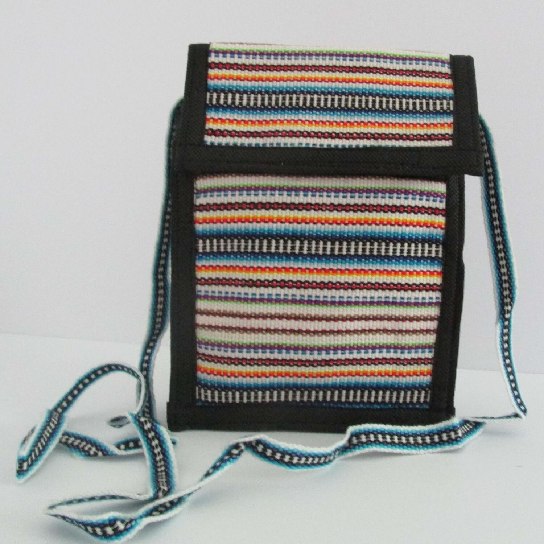 Petit sac à bandoulière blanc et bleu