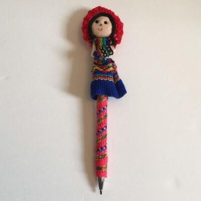 Crayon original fillette péruvienne couleur rouge, boho produits
