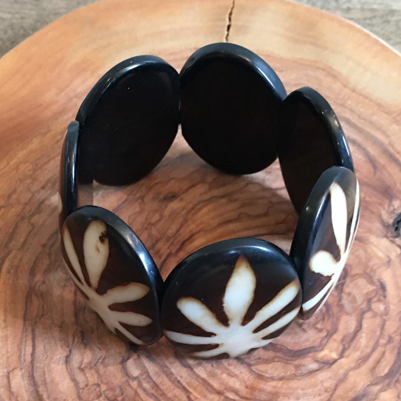 Bracelet en noix de coco, boho design