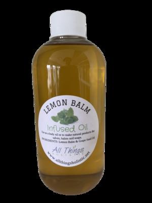 Lemon Balm Infused Oil - 8 oz