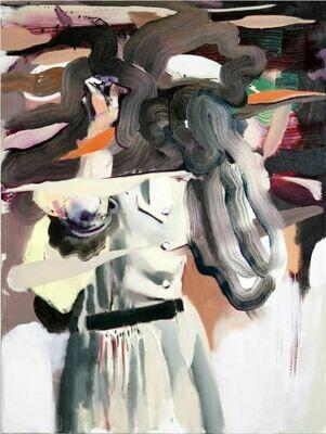 Goggle Woman I   Painting   Artworks   Bartosz Beda