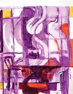 Interior I | Original Artwork on Yupo Paper