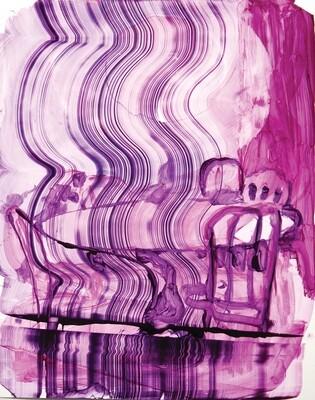 Interior II | Original Artwork on Yupo Paper