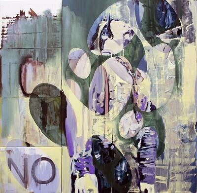 Ten Starts From One V (John White), oil on canvas | Original Artwork | Painting | Bartosz Beda
