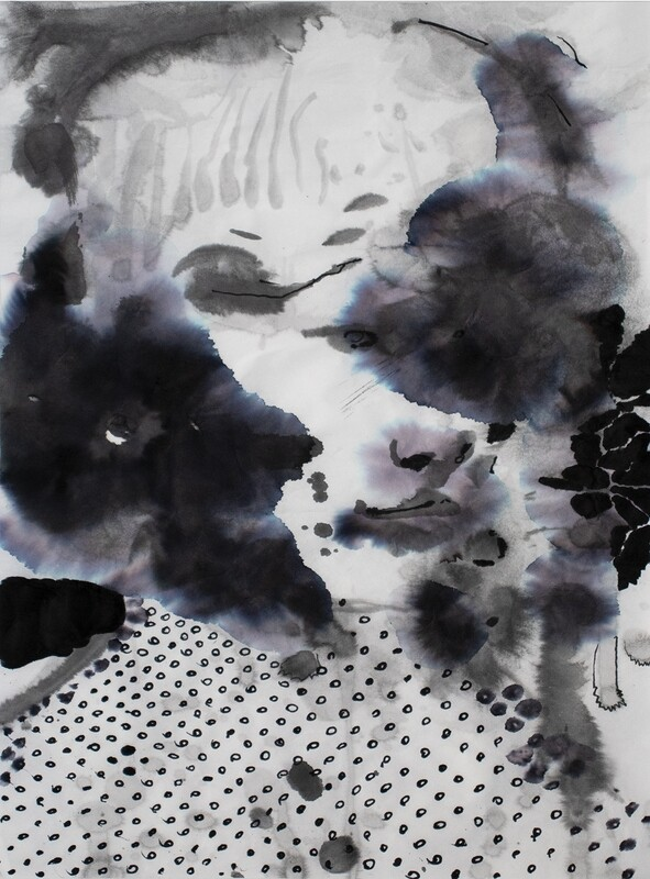 Splashes 01 | Sumi-Ink | Portrait Painting | Bartosz Beda | Figurative Abstract