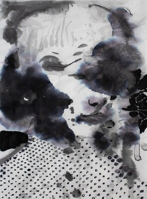 Splashes 01 | Sumi-Ink | Portrait Painting | Bartosz Beda | Figurative Abstract