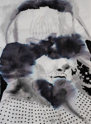 Splashes 04 | Sumi-Ink | Portrait Painting | Bartosz Beda | Figurative Abstract