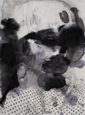 Splashes 05 | Sumi-Ink | Portrait Painting | Bartosz Beda | Figurative Abstract