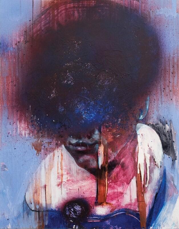 Observers 01 | Acrylic on Yupo | Abstract Portrait Painting | Bartosz Beda | Figurative Abstract Art