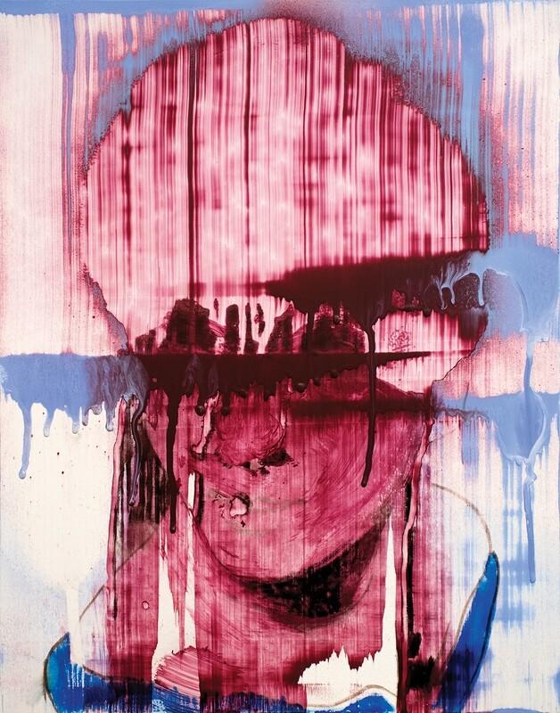 Observers 02 | Acrylic on Yupo | Abstract Portrait Painting | Bartosz Beda | Figurative Abstract Art
