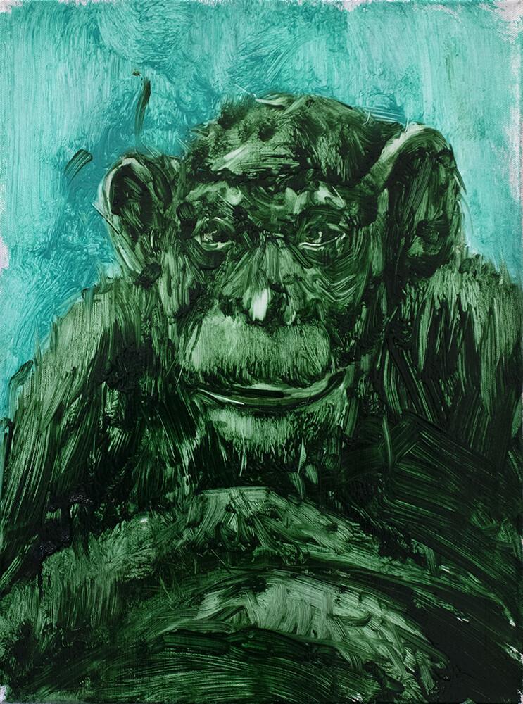 Disinformation II | Figurative Abstract Portrait Painting by Bartosz Beda