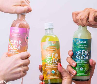 Buchi Kefir Soda - 6 x 12oz bottles
