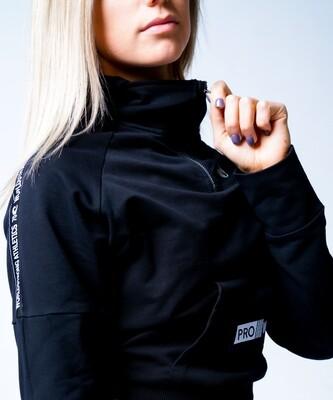 Women's Crop Top Sweater - Iconic Ocean 70