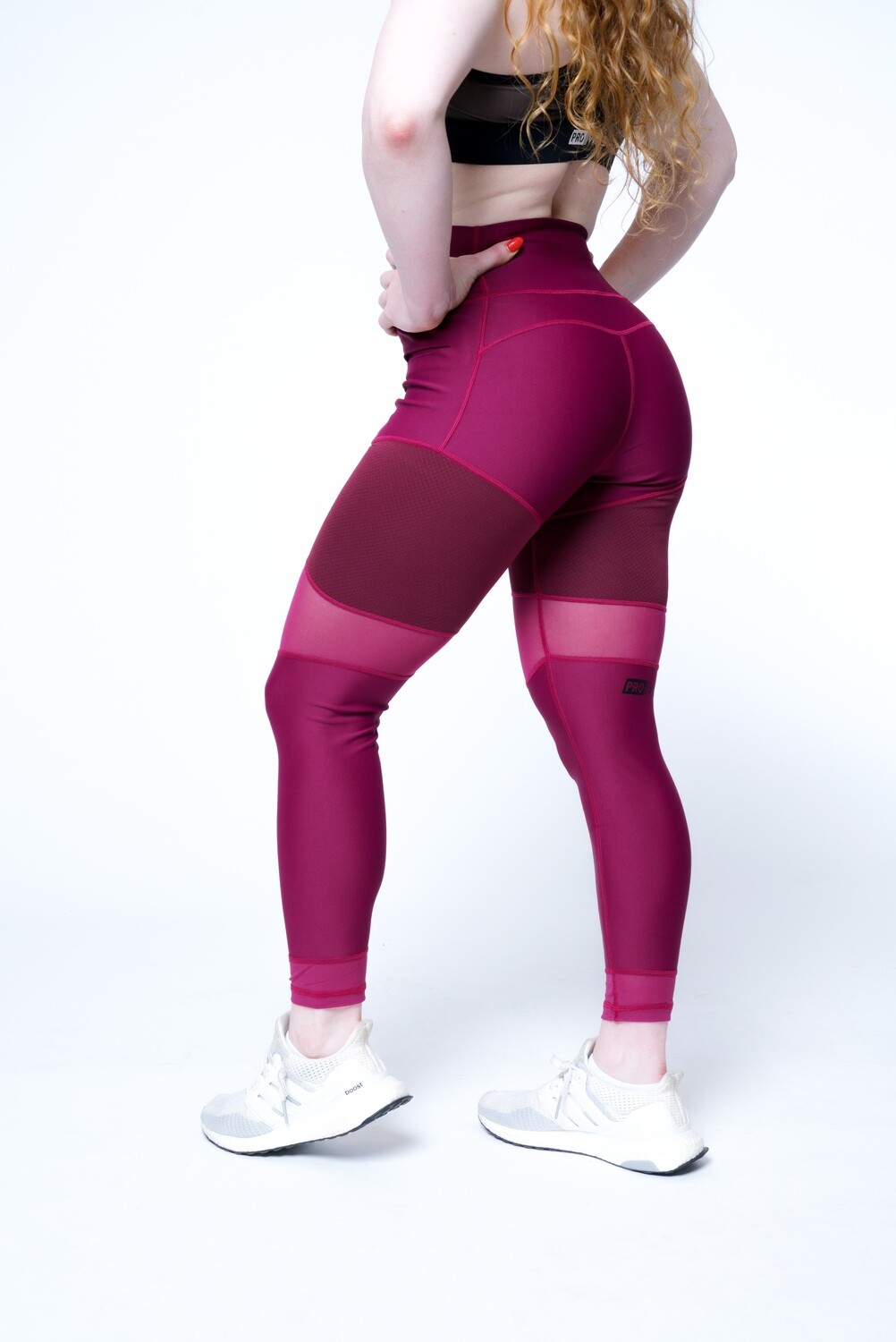 Women's leggings - Texture Mesh Fit