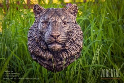 Tiger portrait animal head wall sculpture