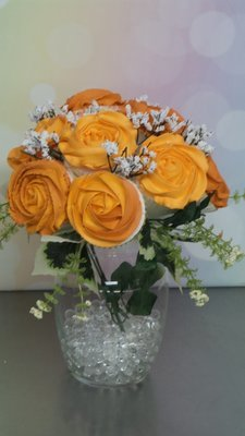 Tangerine Blossom Cupcake Bouquet