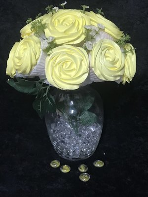 Yellow Sunshine Cupcake Bouquet