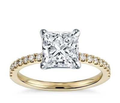 Princess Cut Solitaire Engagement Ring