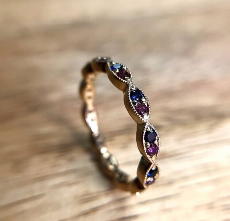 Half Eternity Promise ring