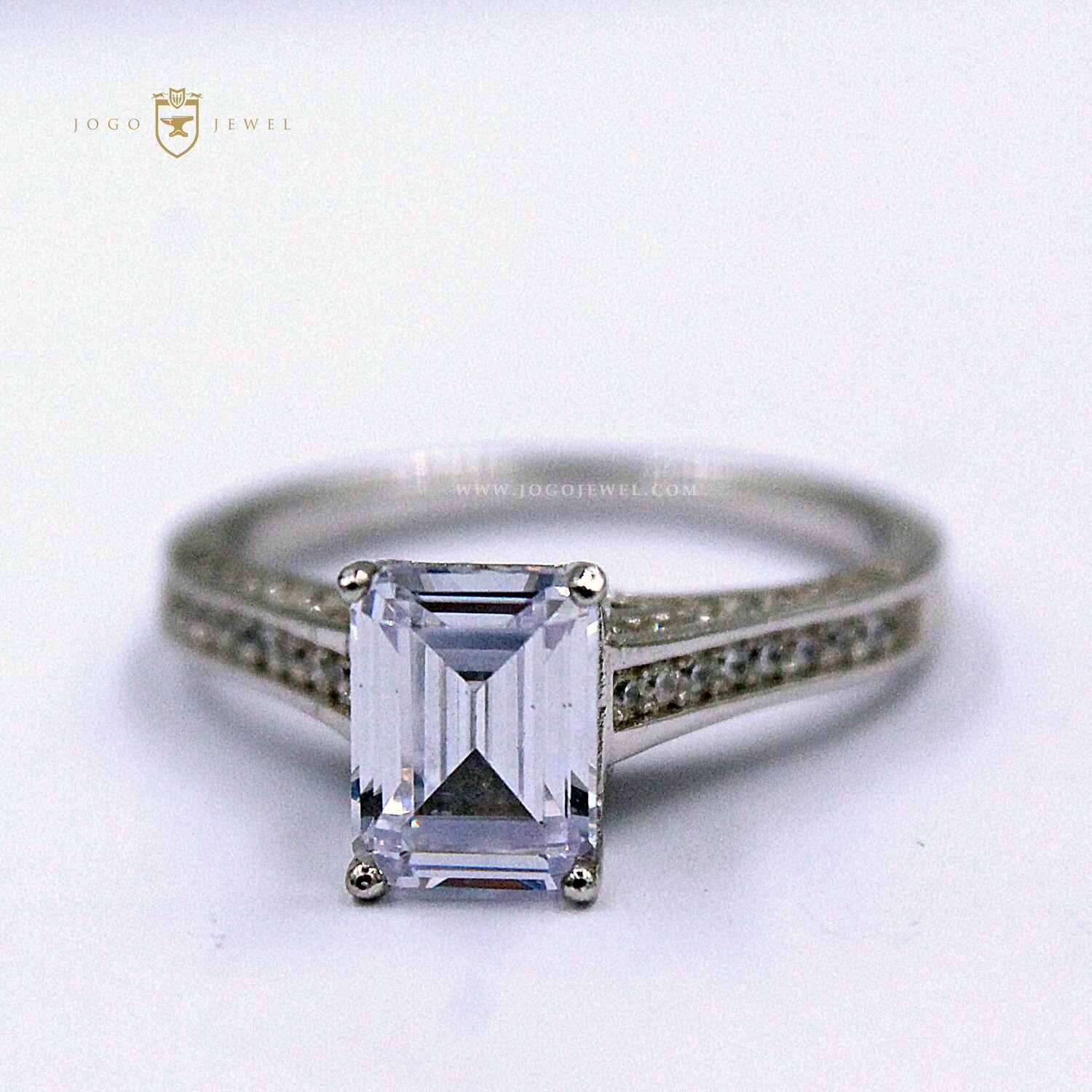 Sterling Silver Solitaire Radiant Ring