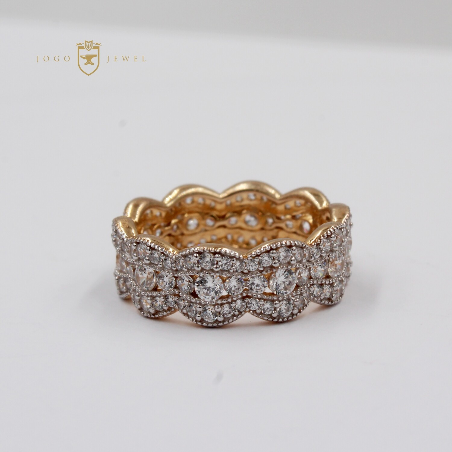 Gold Plated Sterling Silver Band