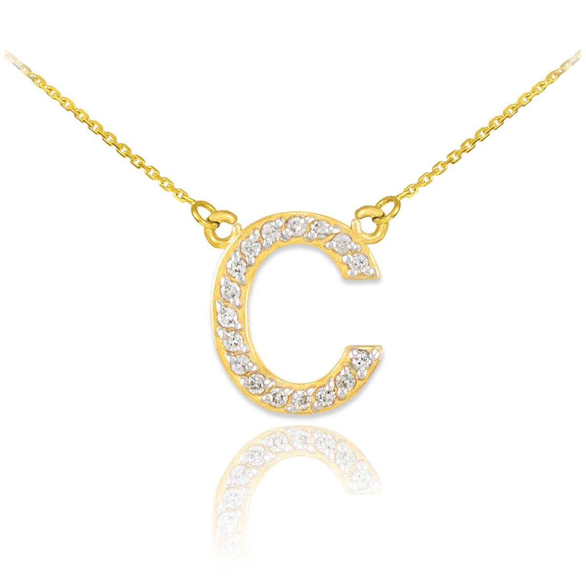 Gold Alphabet Necklace with gemstones
