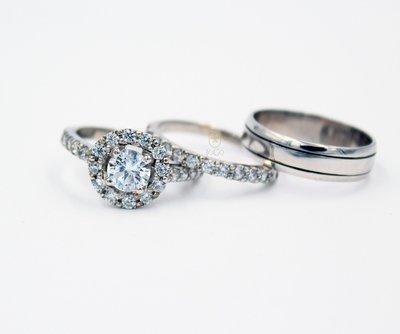 Halo Engagement & Wedding Set