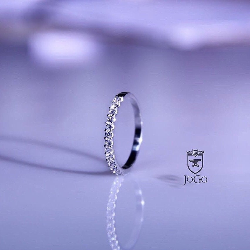 Eternity Ring in Sterling Silver