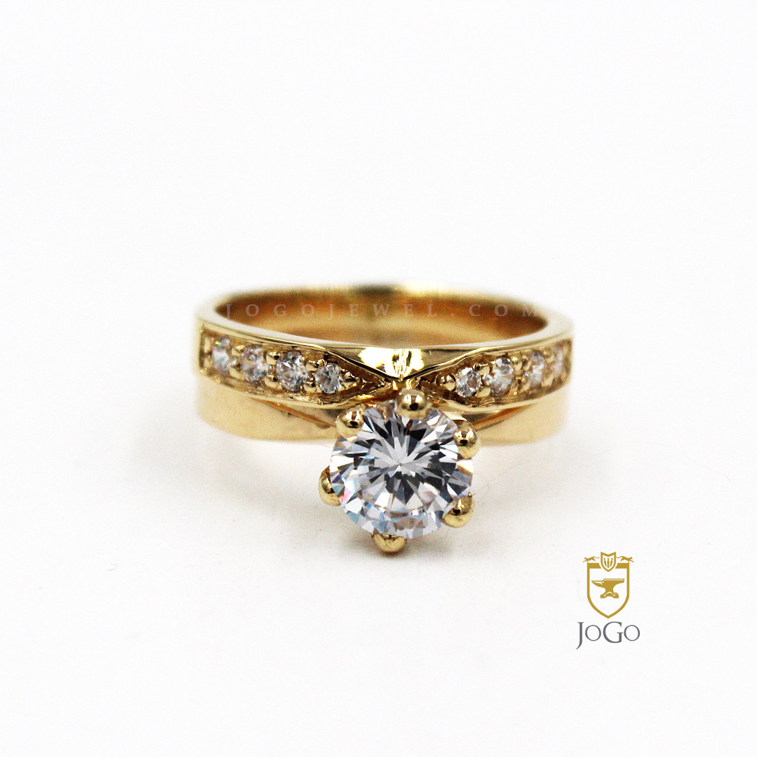 Six Prong Solitaire Engagement & Band Set
