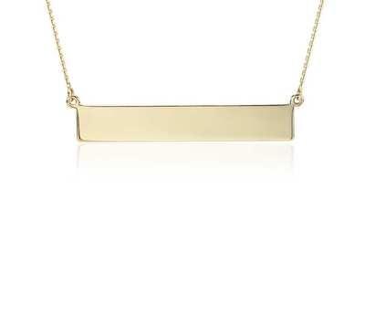 Engravable Bar Necklace