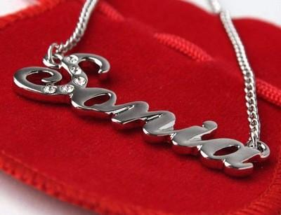 Gemstone Name Necklace