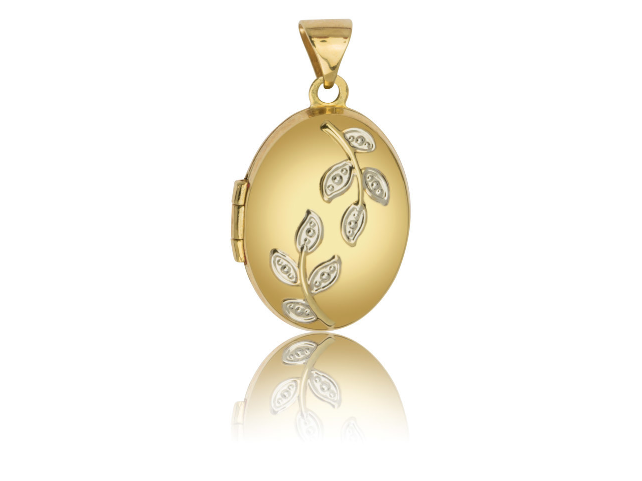 9 karats Yellow gold Oval Locket