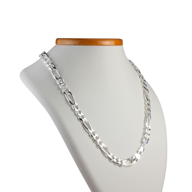 Heavyweight silver figaro Chain