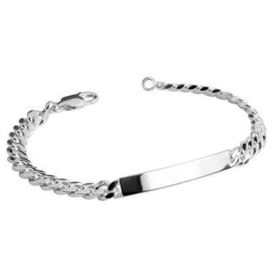 Sterling Silver Engravable Bar Bracelet