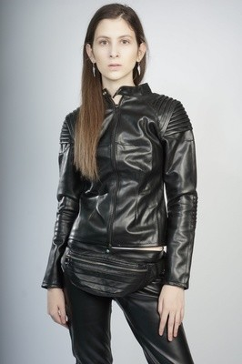 Black Leather Woman Jacket