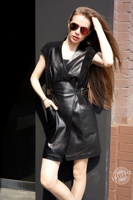 Leather Dress Coat