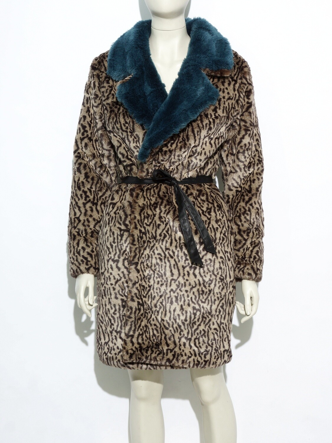 Leopard Fur Coat Synthetic