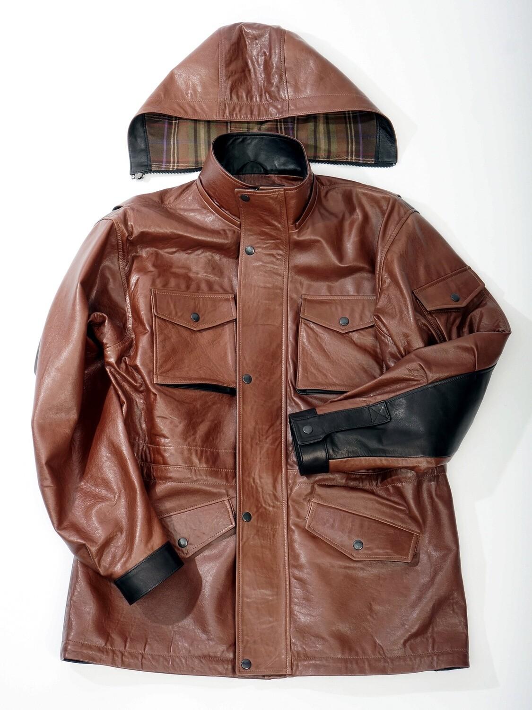 Кожаная куртка коричневая м65