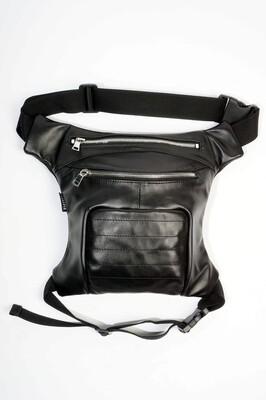 Black Leather Legbag