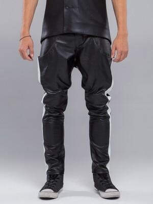 Leather Stripes Pants