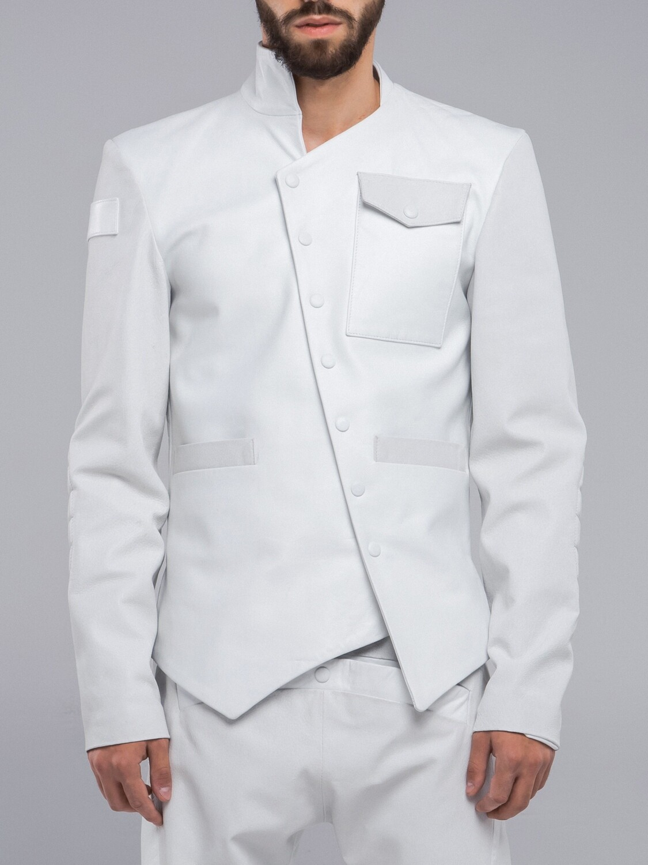 Leather jacket white