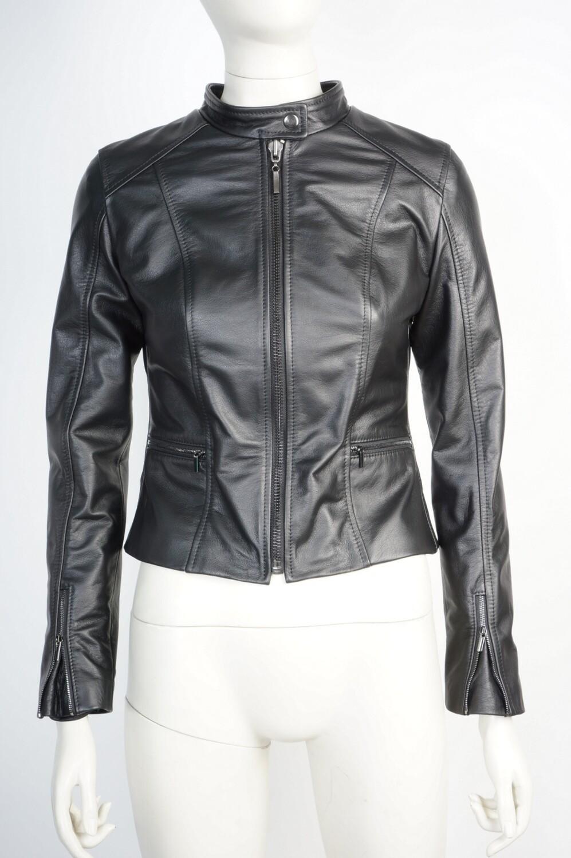 Куртка женская кожаная короткая