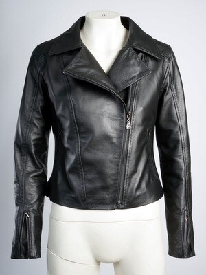 Leather Woman Black Jacket