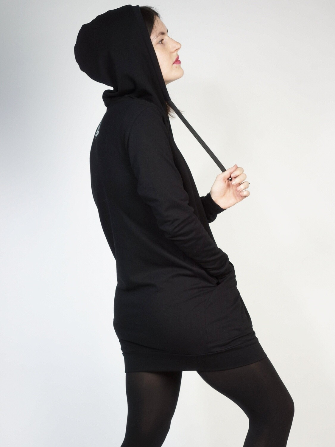 Long Sweatshirt Dress Hood